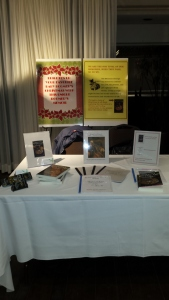 Book display for November show.